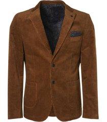 no excess blazer corduroy stretch bronze