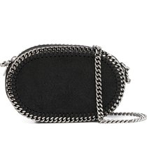 stella mccartney falabella oval crossbody bag - black