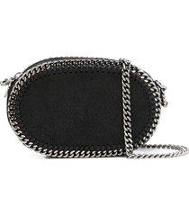 stella mccartney falabella oval crossbody bag - black