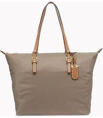 tommy hilfiger women's classic zipper tote khaki -