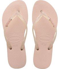 chanclas sandalias rosado mujer slimlogo