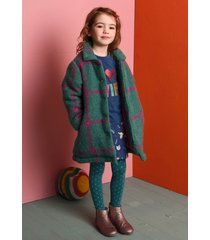 oilily cocoa coat 65 wooly check- turquoise
