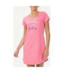 camisola espaço pijama 40737 feminino gg rosa unica