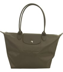 longchamp le pliage néo shoulder bag s taupe