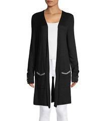 joseph a women's double-knit cardigan - ivory - size xl