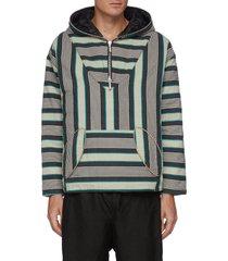 poncho puff half zip hoodie
