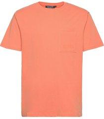 seaside tee m t-shirts short-sleeved orange tenson