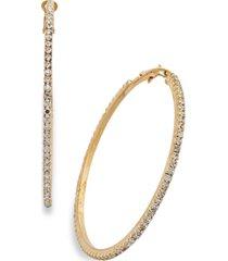 "thalia sodi large crystal pave hoop earrings 2.4"""
