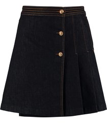 tory burch asymmetric mini skirt