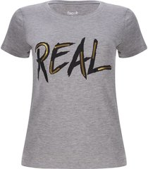camiseta real color gris, talla s