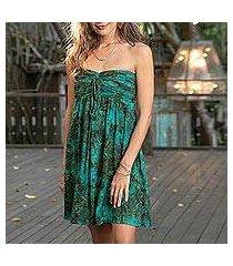 batik dress, 'java emerald' (indonesia)