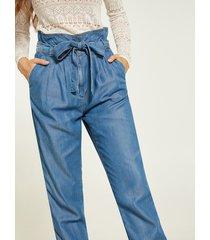 motivi jeans gamba carrot in lyocell donna blu