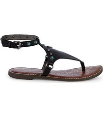galena studded thong sandals