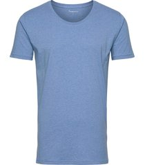 basic loose fit o-neck tee gots t-shirts short-sleeved blå knowledge cotton apparel