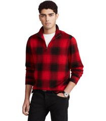 polo ralph lauren men's checked buffalo plaid estate-rib cotton pullover