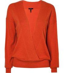 blusa rosa chá reis 1 tricot laranja feminina (flame / orange, g)