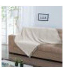 manta para sofá italiana - 140 x 140 cm natural