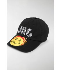 palm angels burning head logo-embroidered baseball cap