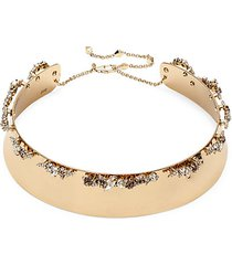 10k goldplated & crystal collar necklace