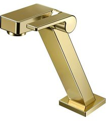 torneira para banheiro mesa  stillo ouro polido bica baixa - docol - docol
