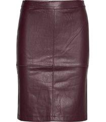 vipen new coated skirt - noos knälång kjol lila vila