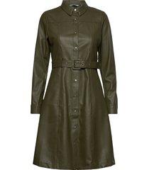 nubelen dress knälång klänning grön nümph