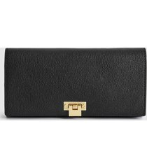 reiss audley - leather clutch bag in black, womens
