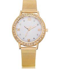 orologi da polso al quarzo da donna di moda minimalista in banda classica con cinturino in acciaio