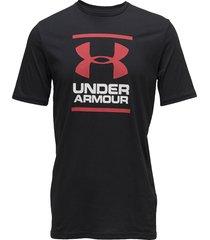 ua gl foundation ss t t-shirts short-sleeved svart under armour