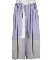 chloé belted striped skirt