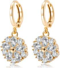 elegante orecchini pendenti in oro placcato oro ziron petalage plant charm orecchini gioielli formali per le donne
