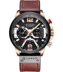 reloj deportivo hombre cronografo curren 8329 negro