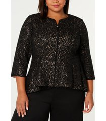 alex evenings plus size modified-peplum jacket