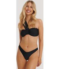 na-kd swimwear v-formad bikiniunderdel - black