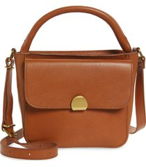 madewell the mini abroad leather crossbody bag - brown