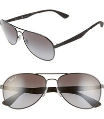 men's ray-ban active lifestyle 61mm polarized pilot sunglasses -