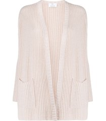 allude ribbed cardigan - pink