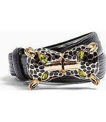 black cheetah hardware belt - black