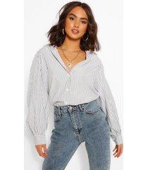 contrast stripe cotton shirt, sage