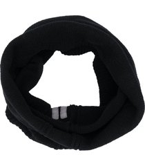 rick owens chunky knit snood scarf - black