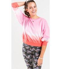 jojo ombre tie dye sweatshirt - pink