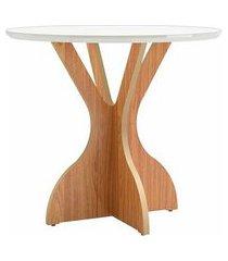 mesa jantar juventude tampo off white com base freijo 90 cm (larg) - 56644 off white