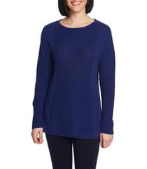 women's chaus mixed gauge pullover sweater