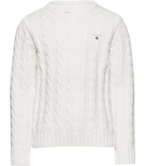 cotton cable crew pullover wit gant