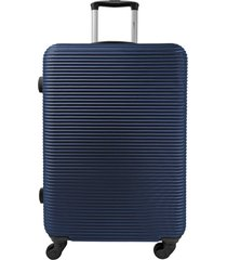 maleta de viaje mediana azul - explora