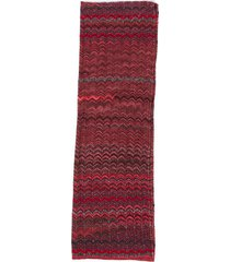 missoni chevron knit scarf black/red sz: