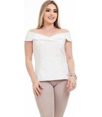 colete clara arruda elegance 90040 - feminino