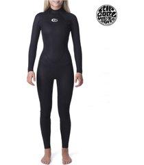 traje de agua 4/3 negro rip curl