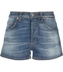 blue stretch-cotton denim shorts