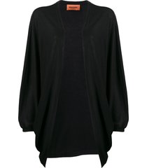missoni draped fine knit cardigan - black